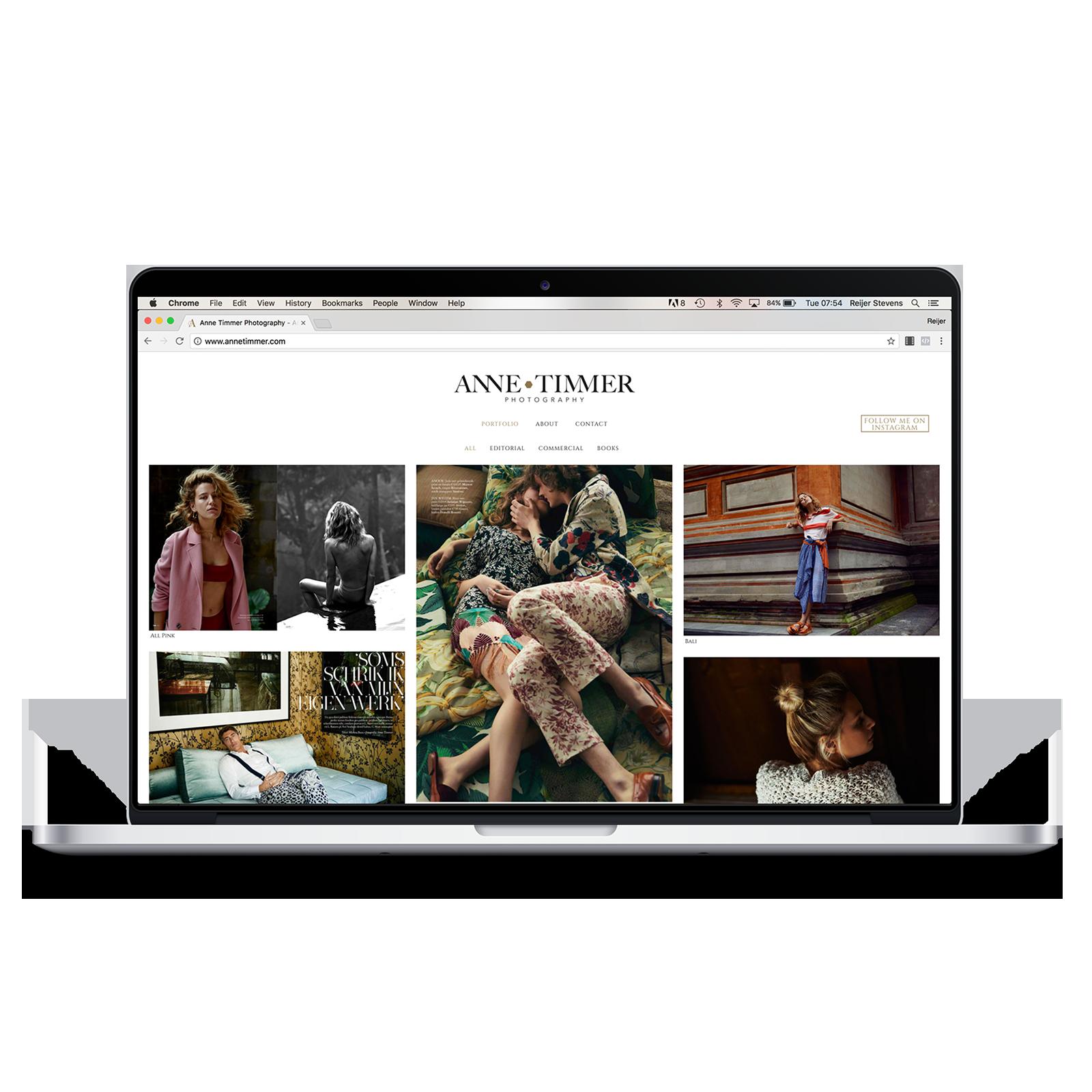 Portfolio website Anne Timmer - Reijer Stevens webdesign Amsterdam