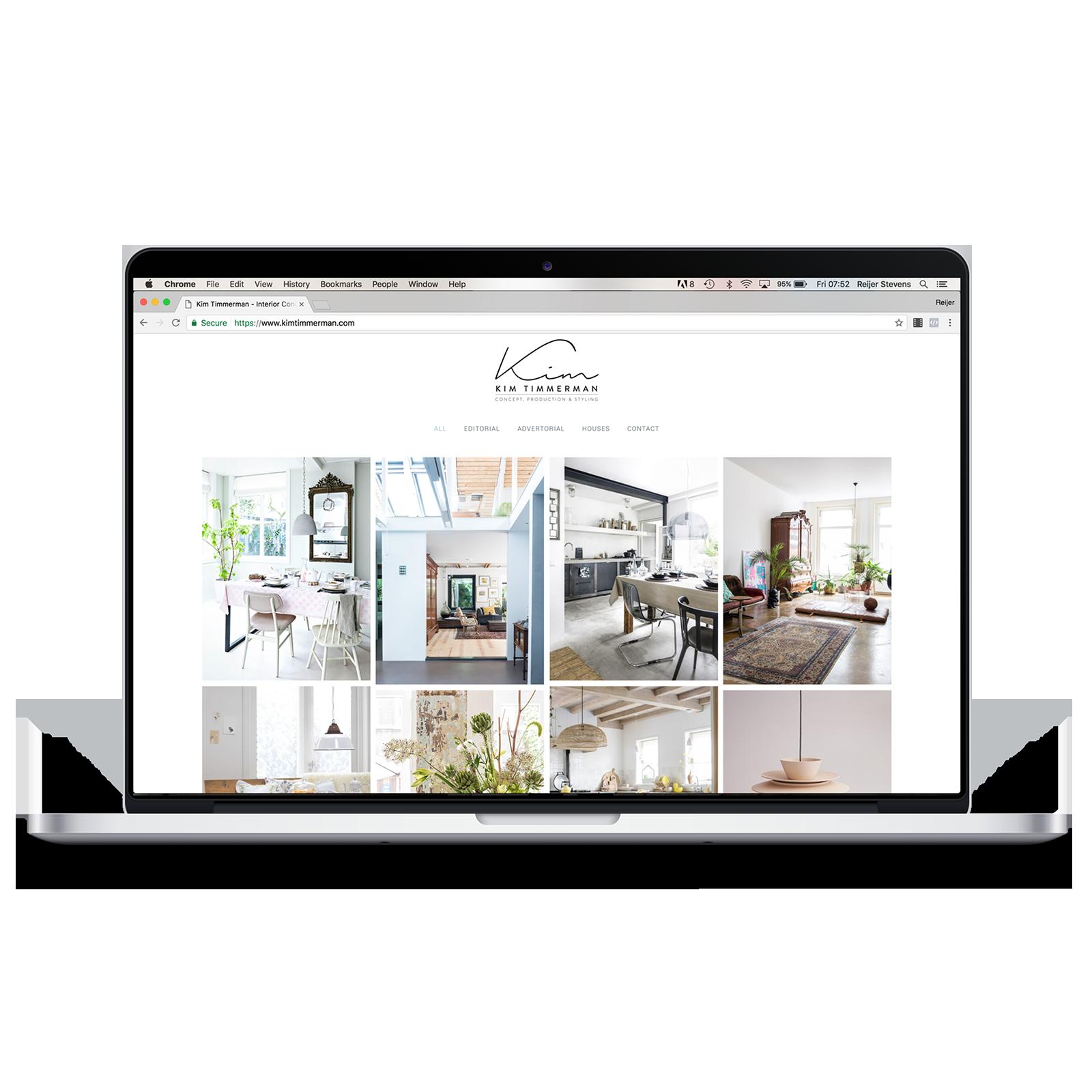 Portfolio website Kim Timmerman - Reijer Stevens webdesign Amsterdam